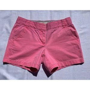 J. Crew SZ 4 Pink Loose Fit Broken-In Chino Shorts